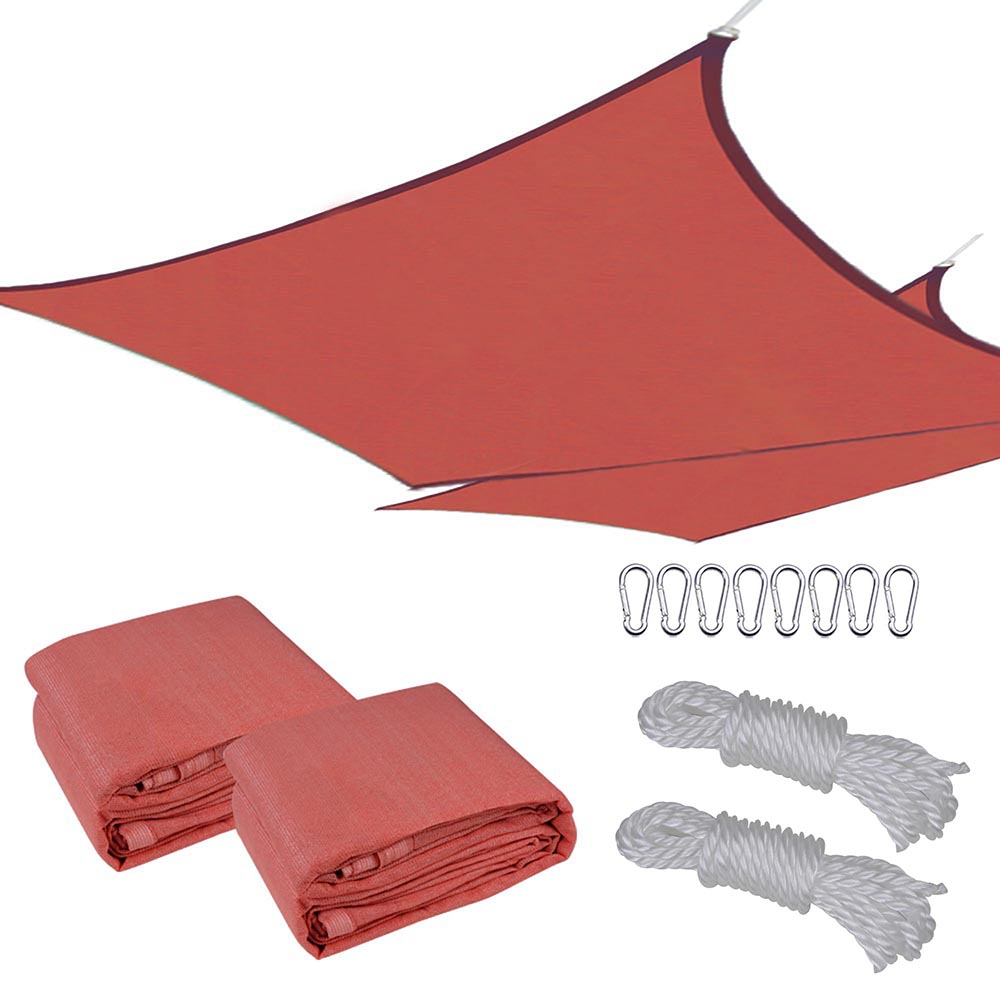Sun-Shade-Sail-Outdoor-Patio-Top-Canopy-Cover-UV-Block-Triangle-Square-Rectangle thumbnail 9