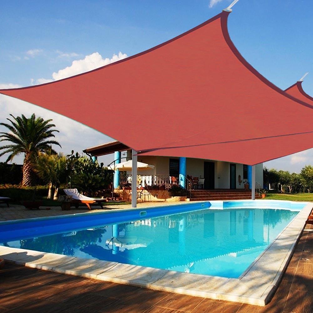 2x Sun Shade Sail Patio Outdoor Canopy Pool Uv Block Cover