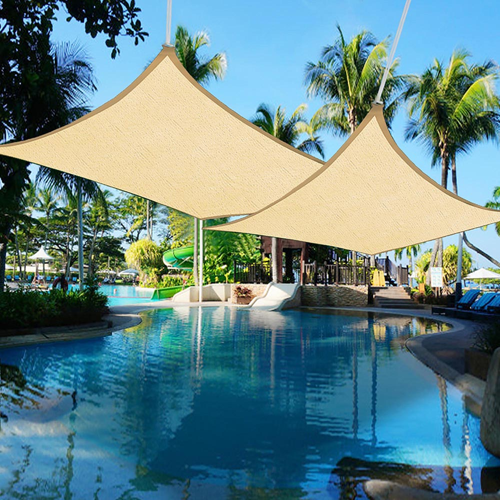 2x Sun Shade Sail Patio Outdoor Canopy Pool UV Block Cover