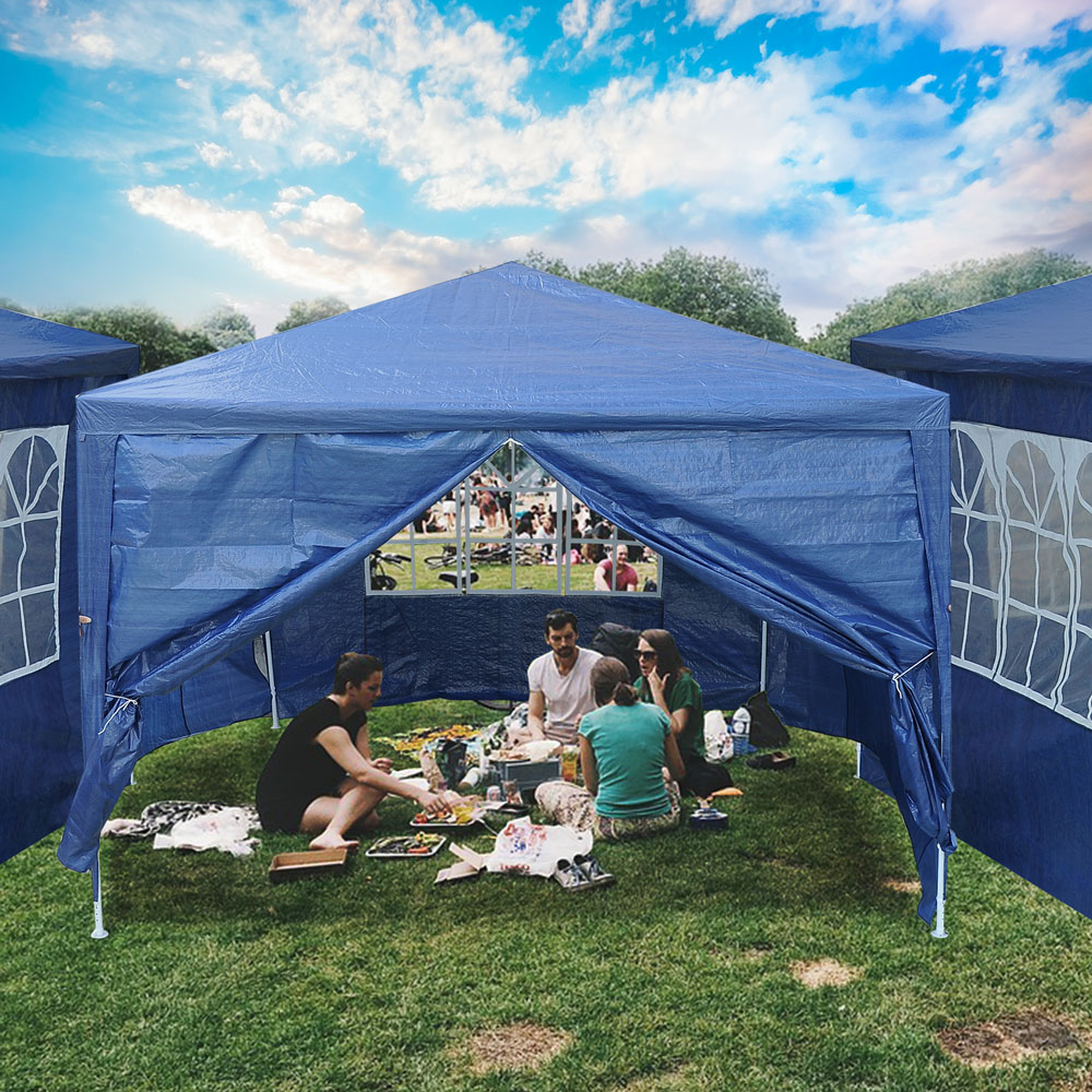 10-039-x10-039-Outdoor-Tent-Patio-Wedding-Canopy-Party-Marquee-Pavilion-w-4-Side-Walls thumbnail 4