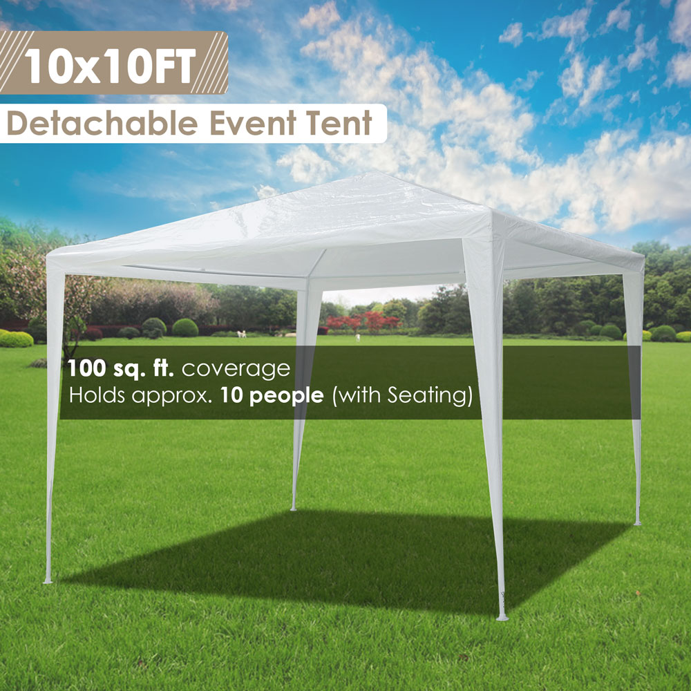 10-039-x10-039-Outdoor-Tent-Patio-Wedding-Canopy-Party-Marquee-Pavilion-w-4-Side-Walls thumbnail 19