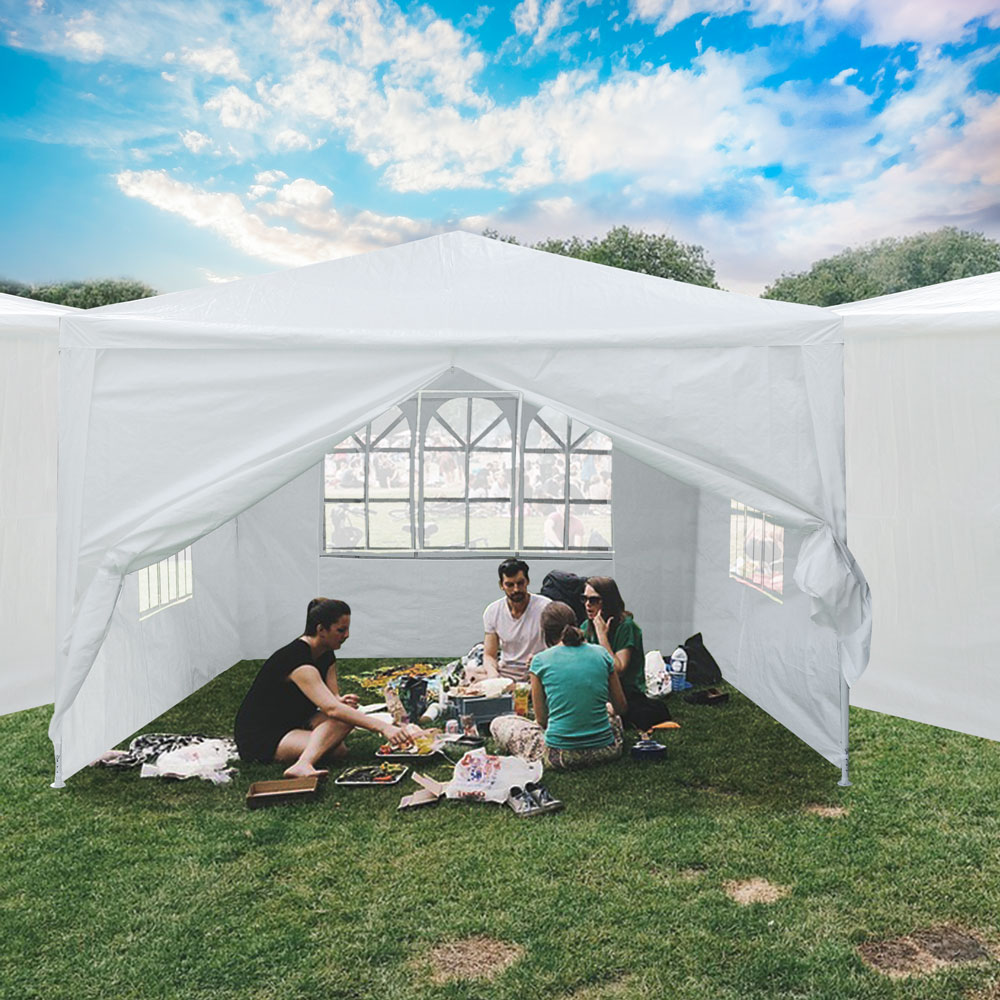 10-039-x10-039-Outdoor-Tent-Patio-Wedding-Canopy-Party-Marquee-Pavilion-w-4-Side-Walls thumbnail 20