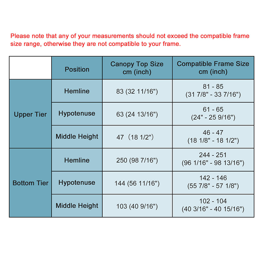 8x8-039-10x10-039-12x12-039-Gazebo-Top-Canopy-Replacement-UV30-Patio-Outdoor-Garden-Cover thumbnail 155