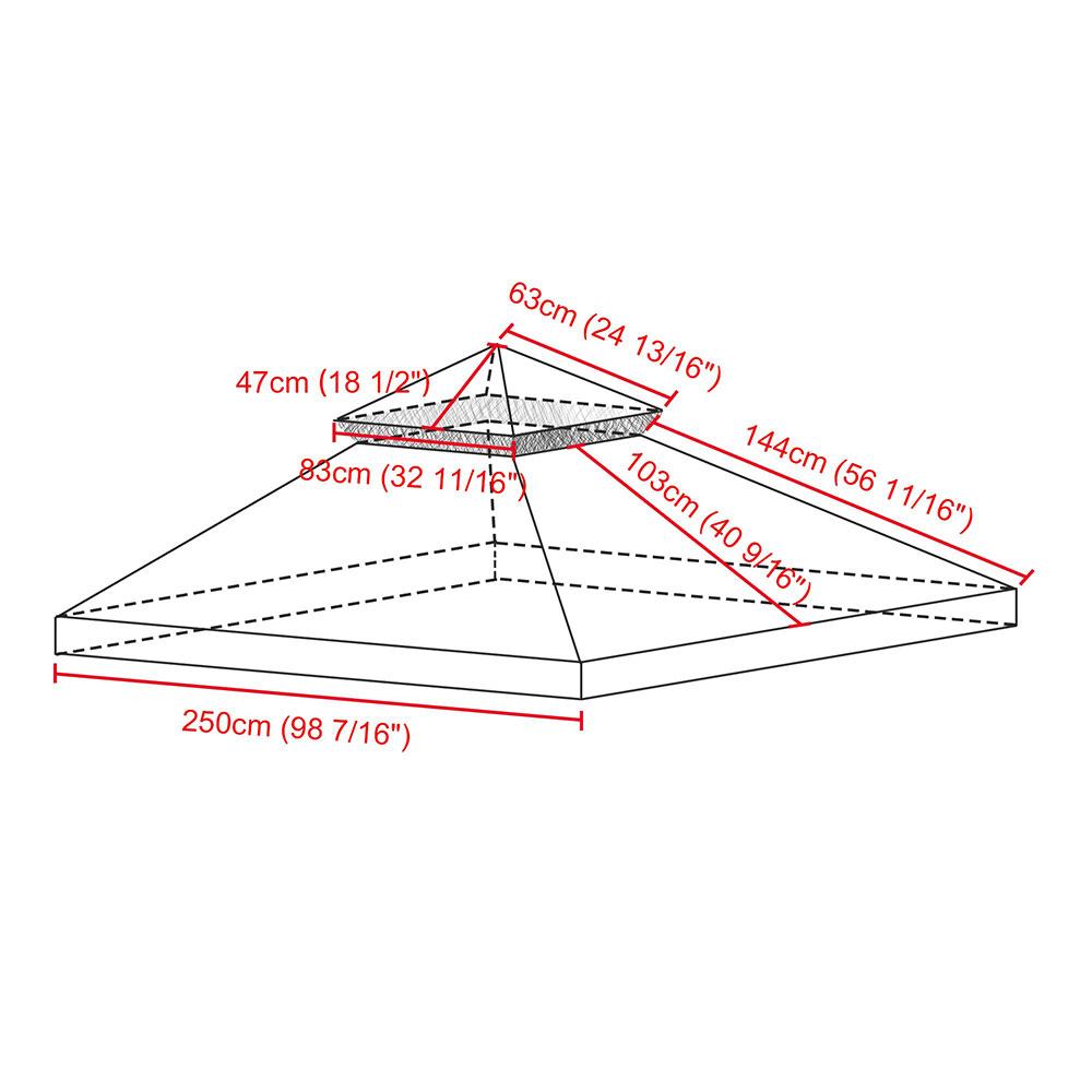 8x8-039-10x10-039-12x12-039-Gazebo-Top-Canopy-Replacement-UV30-Patio-Outdoor-Garden-Cover thumbnail 156