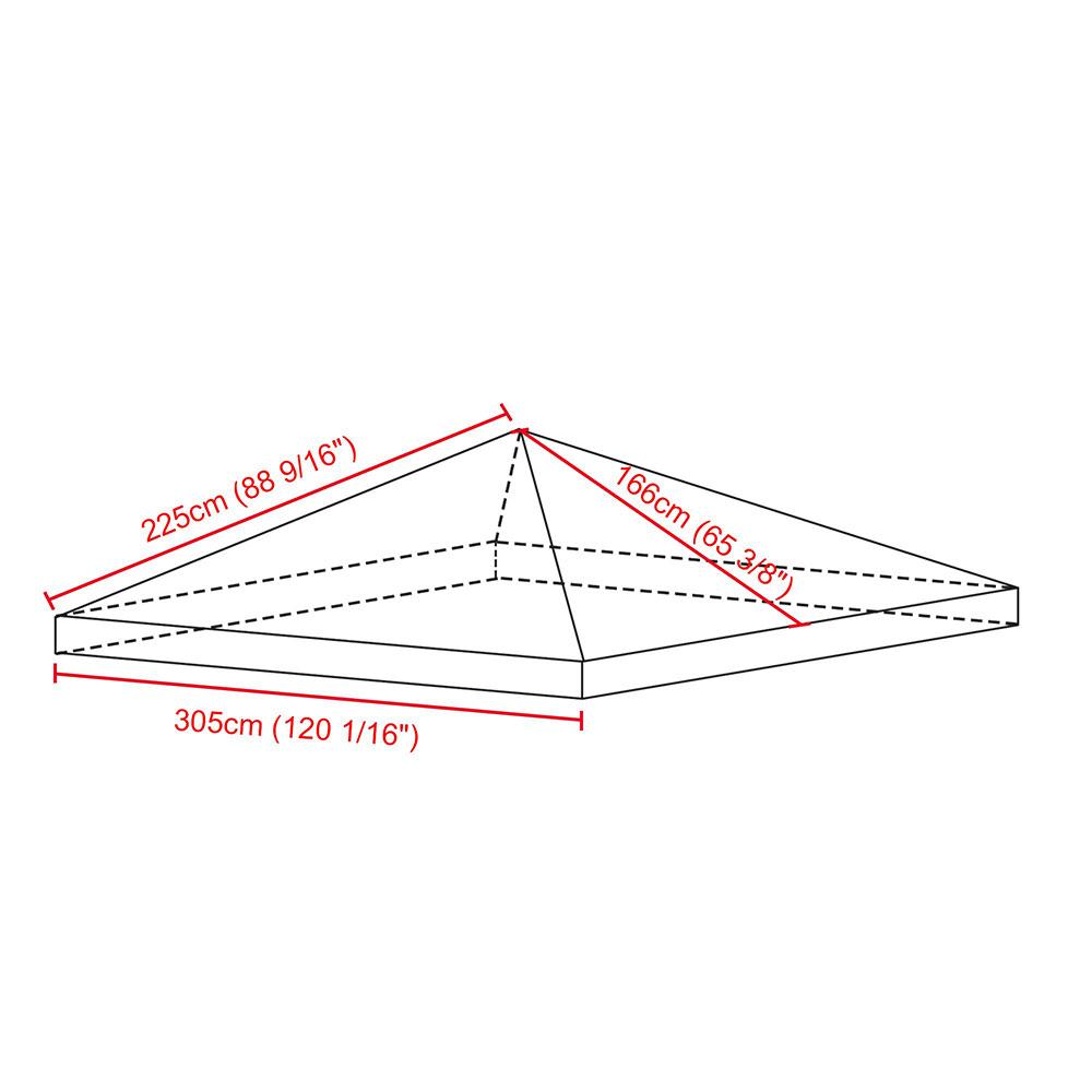 8x8-039-10x10-039-12x12-039-Gazebo-Top-Canopy-Replacement-UV30-Patio-Outdoor-Garden-Cover thumbnail 10