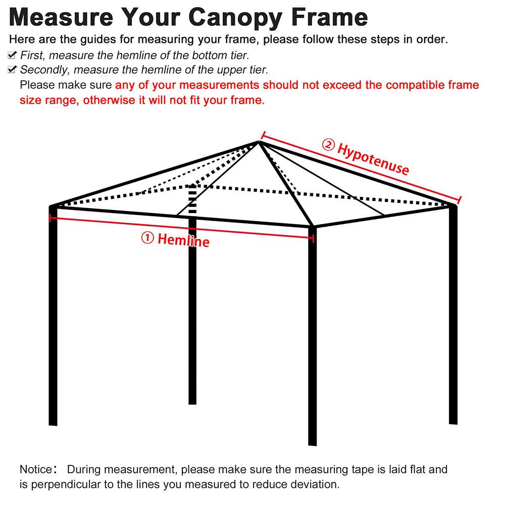 8x8-039-10x10-039-12x12-039-Gazebo-Top-Canopy-Replacement-UV30-Patio-Outdoor-Garden-Cover thumbnail 17