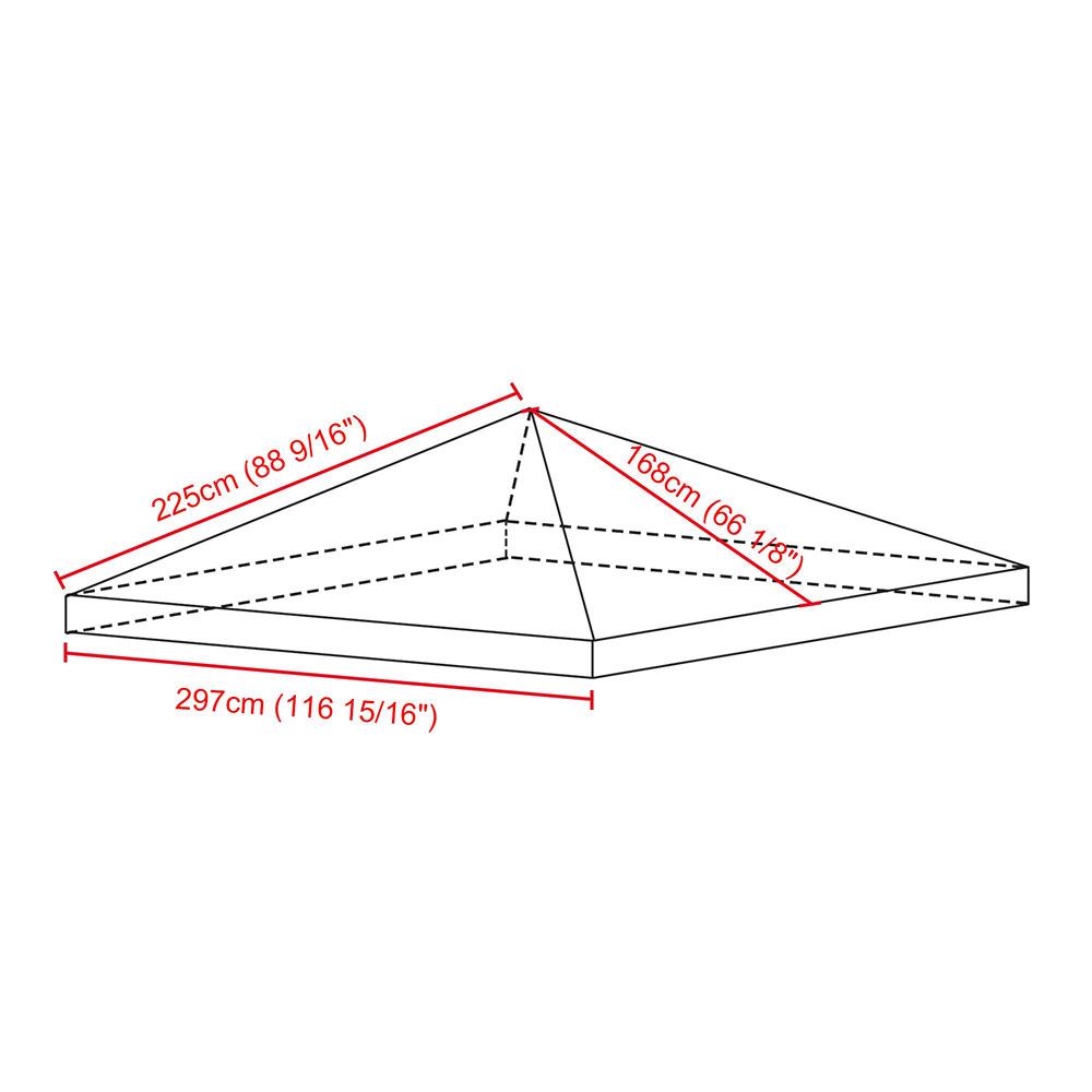 8x8-039-10x10-039-12x12-039-Gazebo-Top-Canopy-Replacement-UV30-Patio-Outdoor-Garden-Cover thumbnail 167