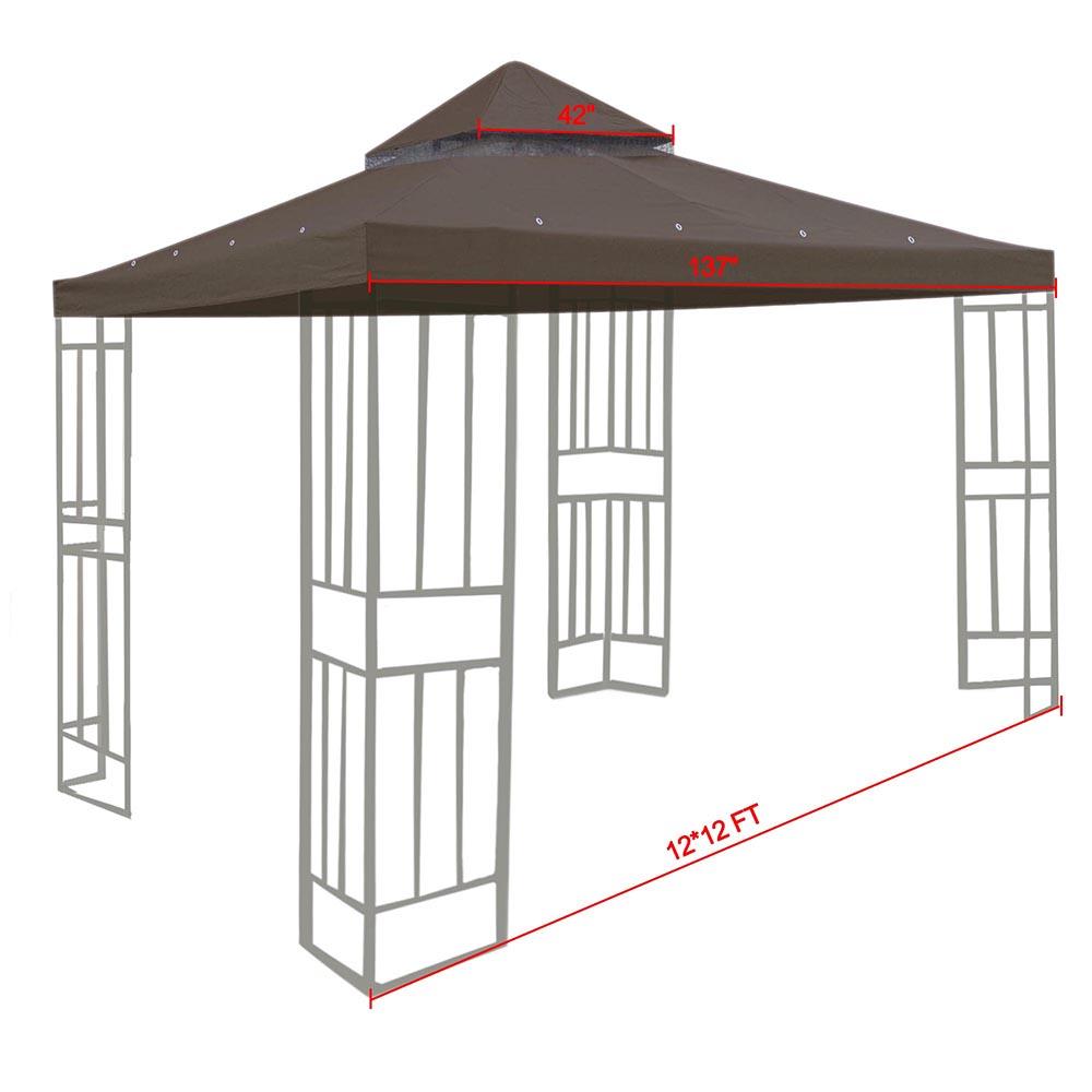 8x8-039-10x10-039-12x12-039-Gazebo-Top-Canopy-Replacement-UV30-Patio-Outdoor-Garden-Cover thumbnail 87