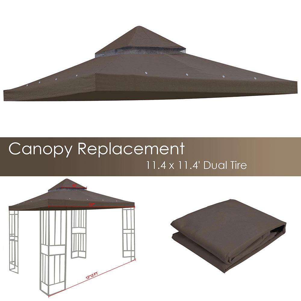 8x8-039-10x10-039-12x12-039-Gazebo-Top-Canopy-Replacement-UV30-Patio-Outdoor-Garden-Cover thumbnail 88