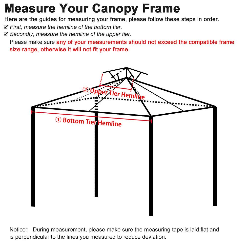 8x8-039-10x10-039-12x12-039-Gazebo-Top-Canopy-Replacement-UV30-Patio-Outdoor-Garden-Cover thumbnail 90