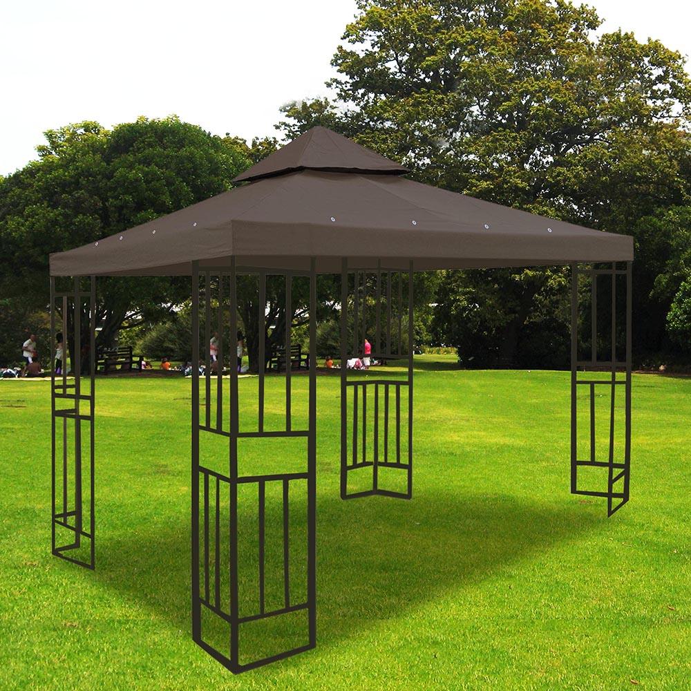 8x8-039-10x10-039-12x12-039-Gazebo-Top-Canopy-Replacement-UV30-Patio-Outdoor-Garden-Cover thumbnail 99