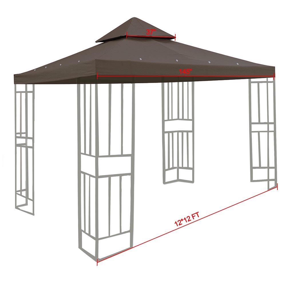 8x8-039-10x10-039-12x12-039-Gazebo-Top-Canopy-Replacement-UV30-Patio-Outdoor-Garden-Cover thumbnail 100