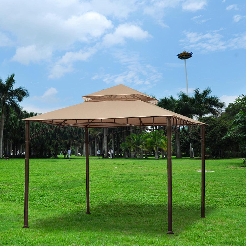 8x8-039-10x10-039-12x12-039-Gazebo-Top-Canopy-Replacement-UV30-Patio-Outdoor-Garden-Cover thumbnail 74
