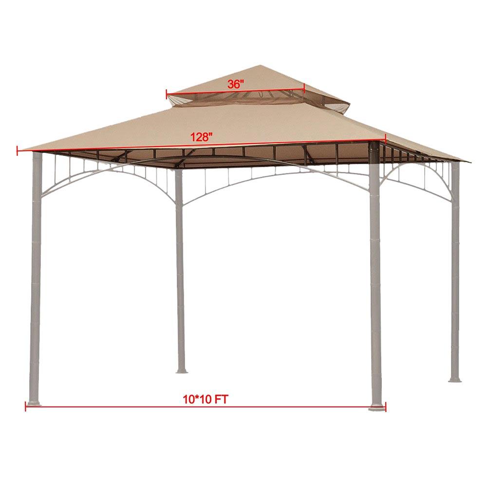 8x8-039-10x10-039-12x12-039-Gazebo-Top-Canopy-Replacement-UV30-Patio-Outdoor-Garden-Cover thumbnail 75