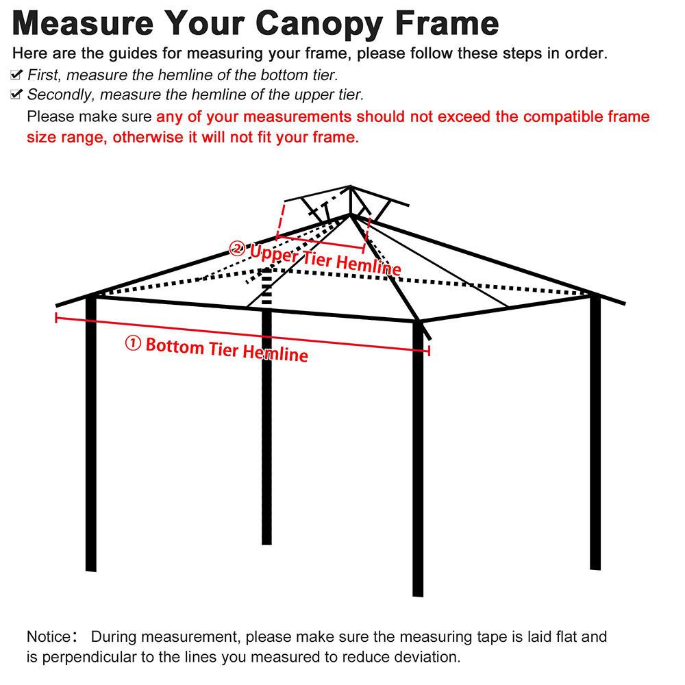 8x8-039-10x10-039-12x12-039-Gazebo-Top-Canopy-Replacement-UV30-Patio-Outdoor-Garden-Cover thumbnail 77