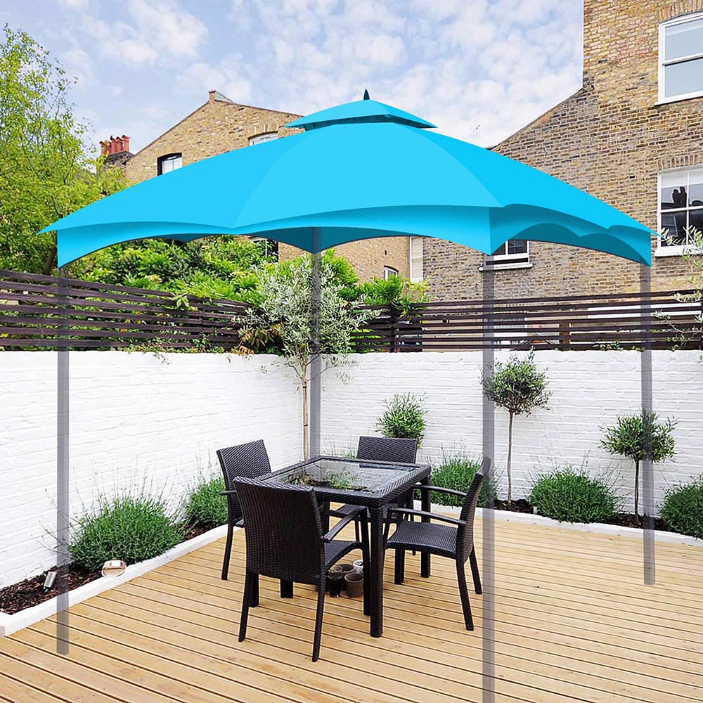 2 Tiers Outdoor Patio Canopy Top Cover Replacement Fits ...