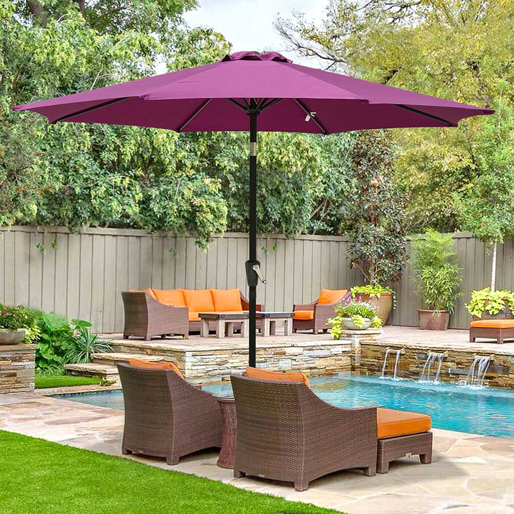 Outdoor-Patio-Umbrella-Aluminum-8ft-9ft-10ft-13ft-Common-LED-Option-Beach-Garden thumbnail 214