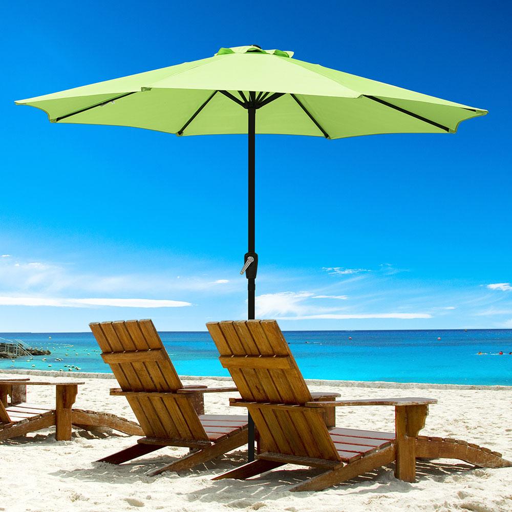 Outdoor-Patio-Umbrella-Aluminum-8ft-9ft-10ft-13ft-Common-LED-Option-Beach-Garden thumbnail 171