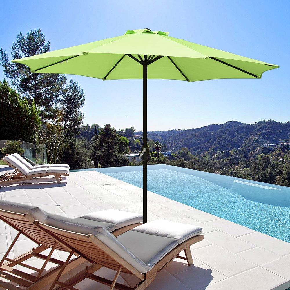 Outdoor-Patio-Umbrella-Aluminum-8ft-9ft-10ft-13ft-Common-LED-Option-Beach-Garden thumbnail 170