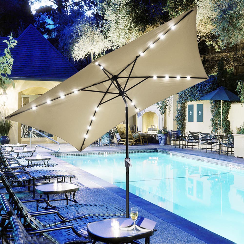 Outdoor-Patio-Umbrella-Aluminum-8ft-9ft-10ft-13ft-Common-LED-Option-Beach-Garden thumbnail 47