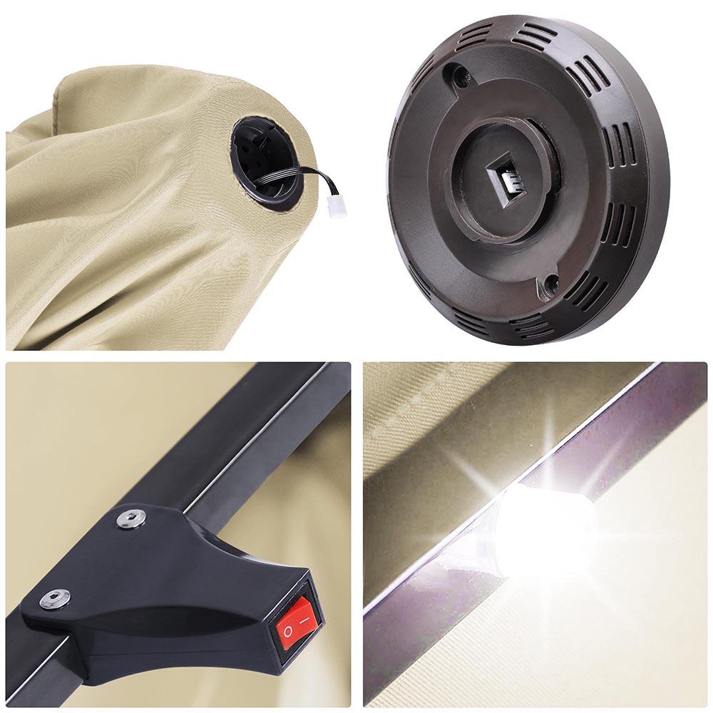 Outdoor-Patio-Umbrella-Aluminum-8ft-9ft-10ft-13ft-Common-LED-Option-Beach-Garden thumbnail 48