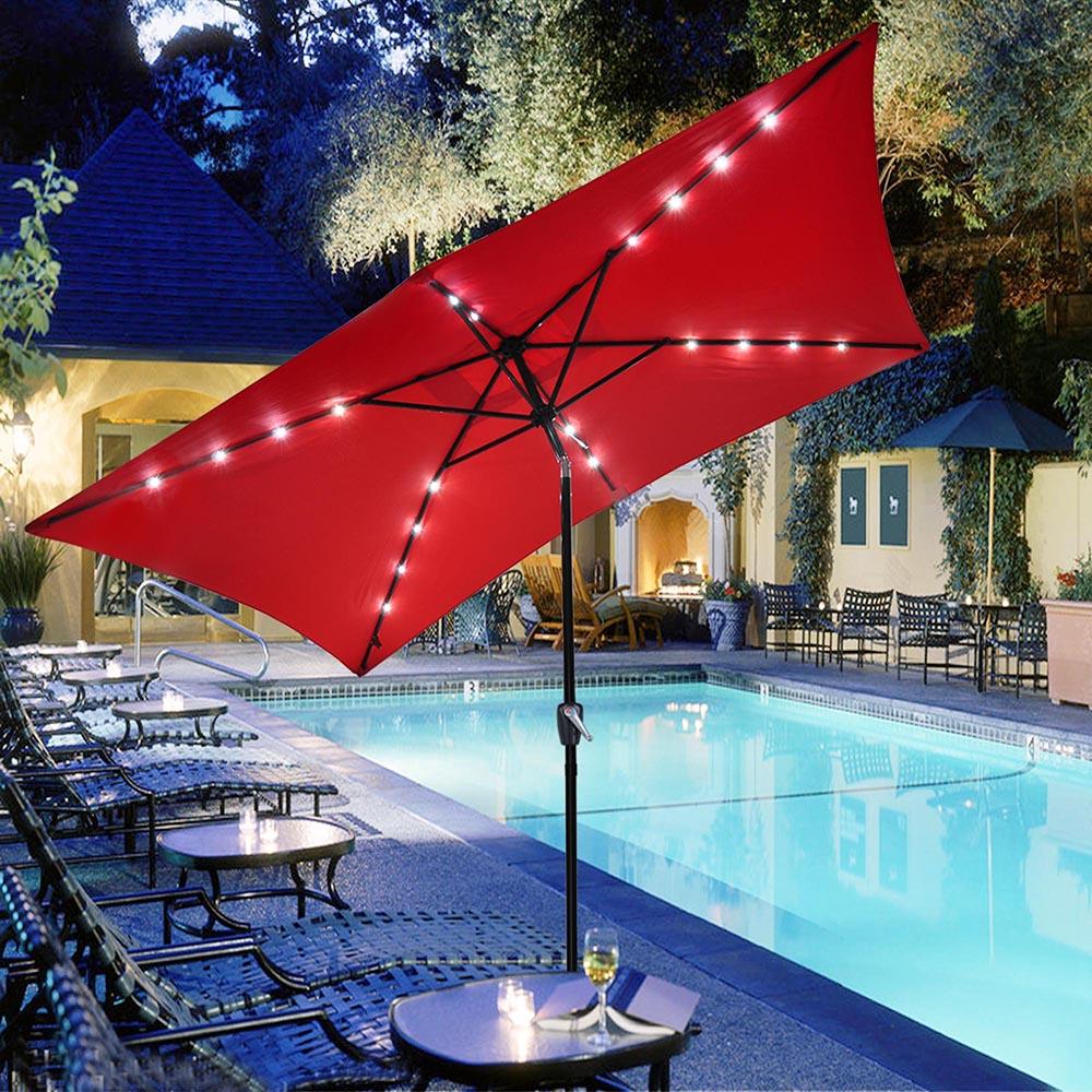 Outdoor-Patio-Umbrella-Aluminum-8ft-9ft-10ft-13ft-Common-LED-Option-Beach-Garden thumbnail 60