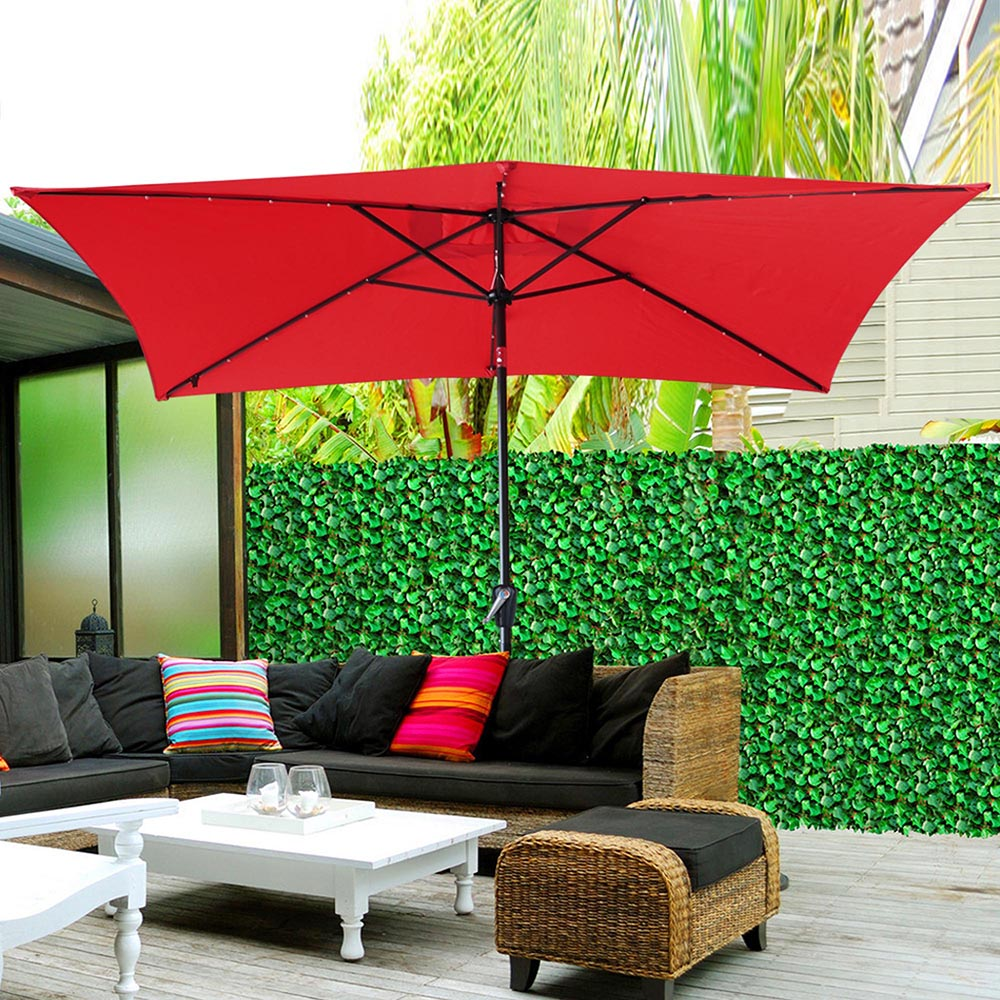 Outdoor-Patio-Umbrella-Aluminum-8ft-9ft-10ft-13ft-Common-LED-Option-Beach-Garden thumbnail 61