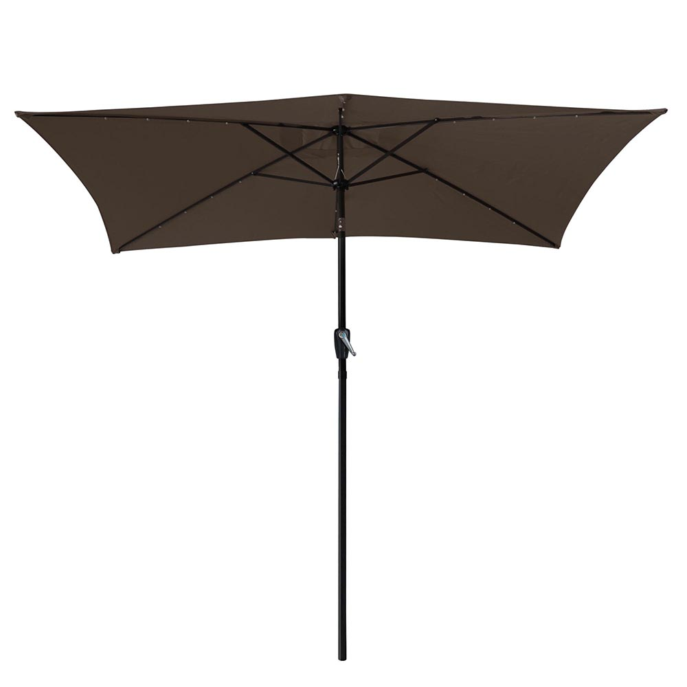 Patio Umbrella Solar Lights: 10'x6.5' Patio Outdoor Aluminum Umbrella Solar LED Light