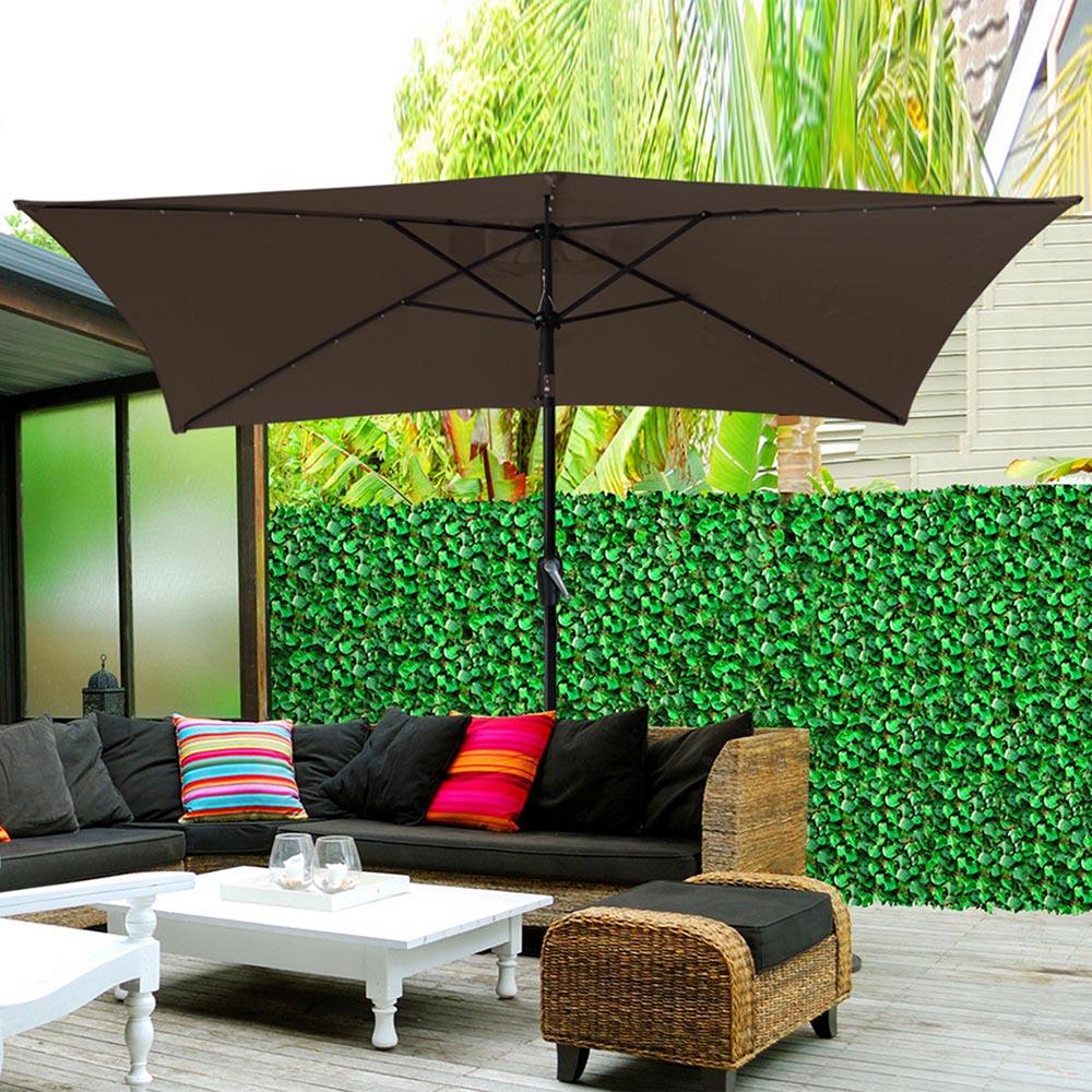 Outdoor-Patio-Umbrella-Aluminum-8ft-9ft-10ft-13ft-Common-LED-Option-Beach-Garden thumbnail 52