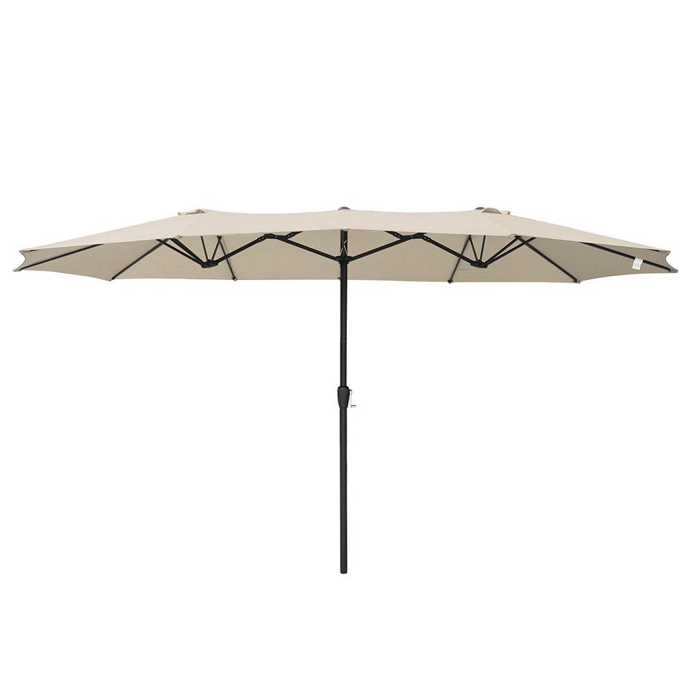 15ft-Double-sided-Patio-Twin-Umbrella-with-Crank-Outdoor-Garden-Market-Sun-Shade thumbnail 38