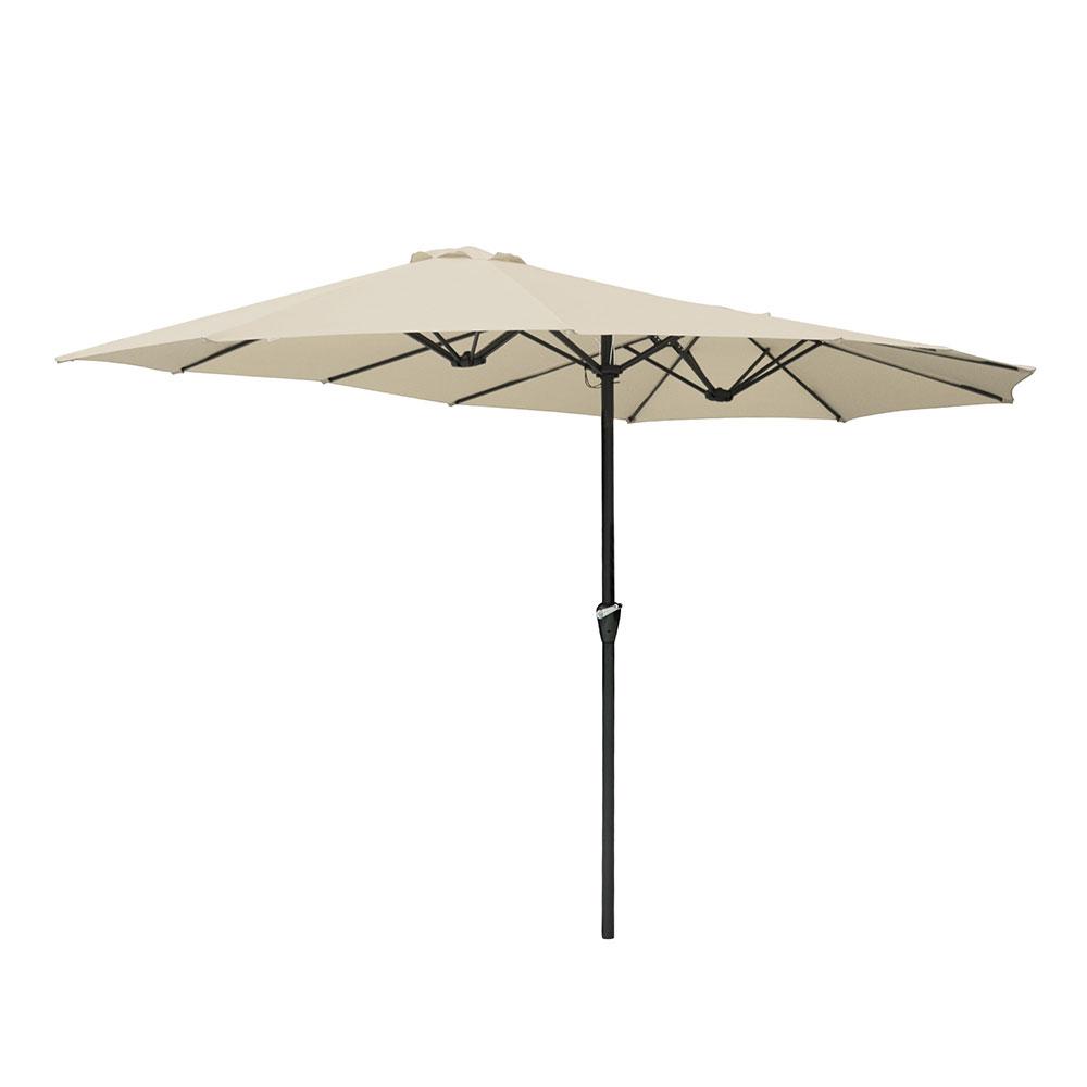 15ft-Double-sided-Patio-Twin-Umbrella-with-Crank-Outdoor-Garden-Market-Sun-Shade thumbnail 48