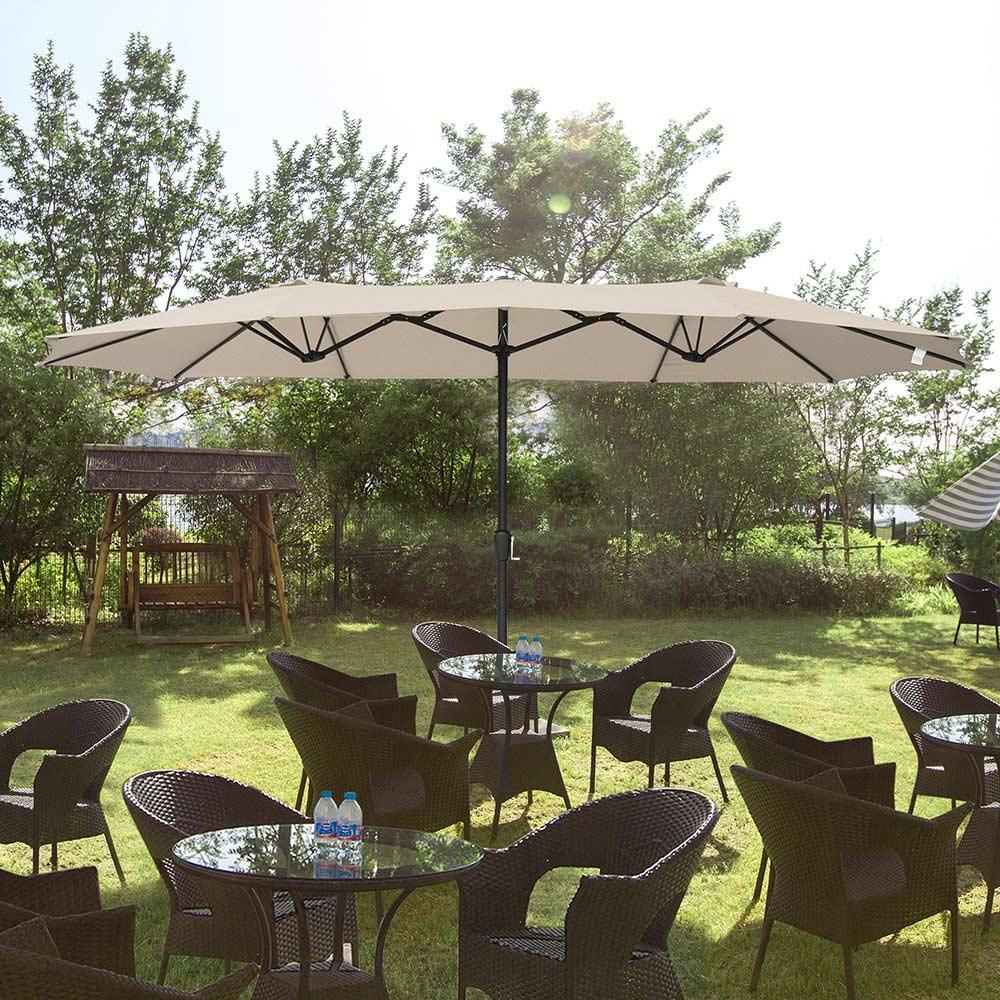 Outdoor-Patio-Umbrella-Aluminum-8ft-9ft-10ft-13ft-Common-LED-Option-Beach-Garden thumbnail 162
