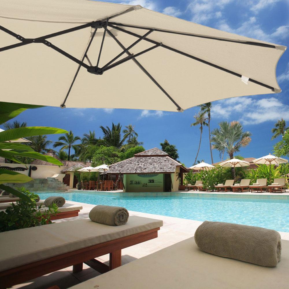 Outdoor-Patio-Umbrella-Aluminum-8ft-9ft-10ft-13ft-Common-LED-Option-Beach-Garden thumbnail 163