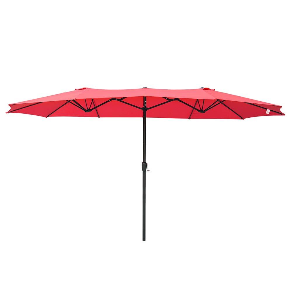 15ft-Double-sided-Patio-Twin-Umbrella-with-Crank-Outdoor-Garden-Market-Sun-Shade thumbnail 26