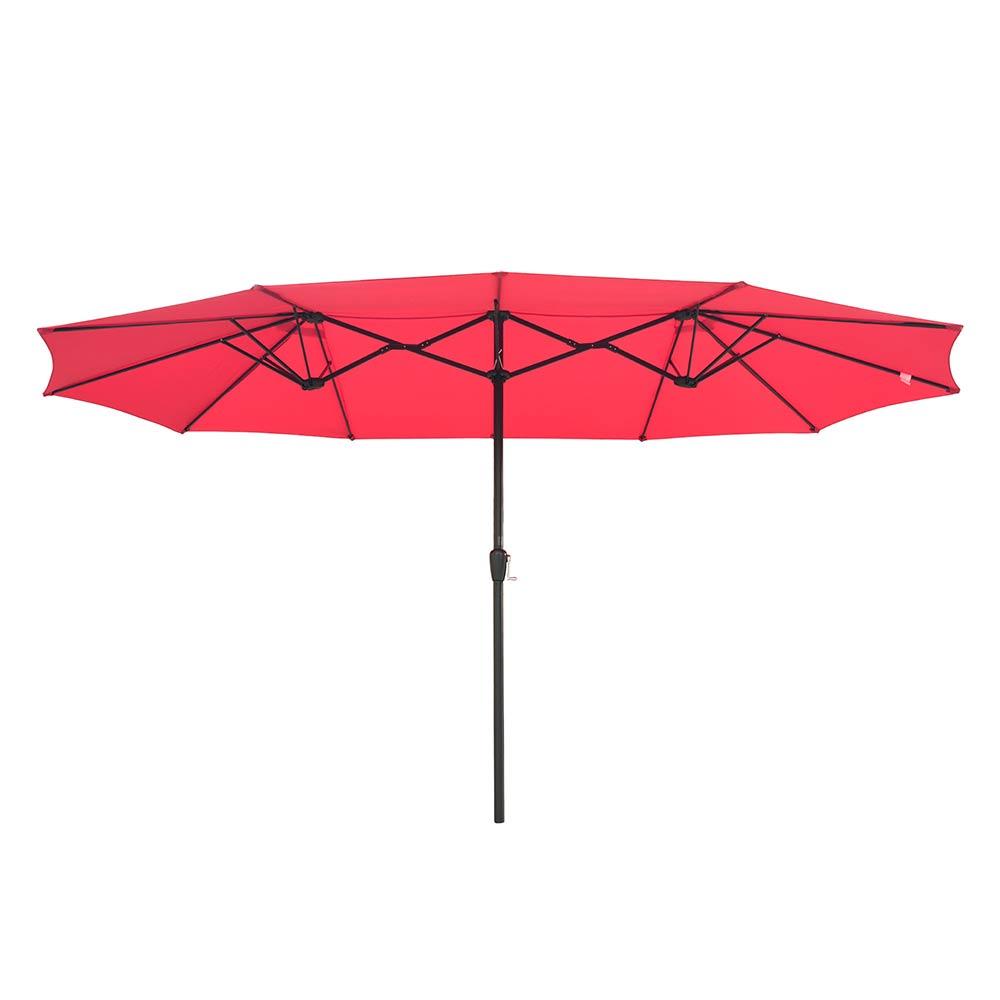 15ft-Double-sided-Patio-Twin-Umbrella-with-Crank-Outdoor-Garden-Market-Sun-Shade thumbnail 35