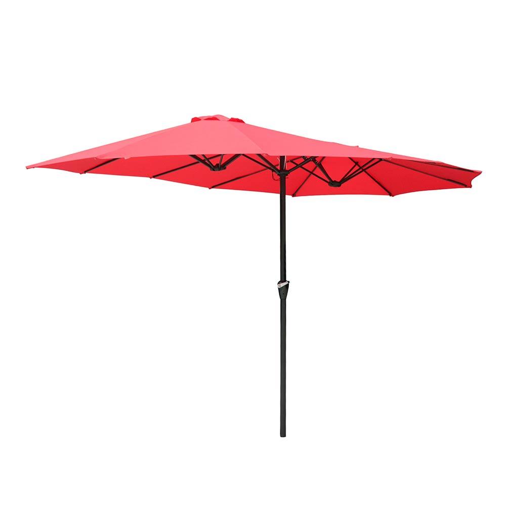 15ft-Double-sided-Patio-Twin-Umbrella-with-Crank-Outdoor-Garden-Market-Sun-Shade thumbnail 36