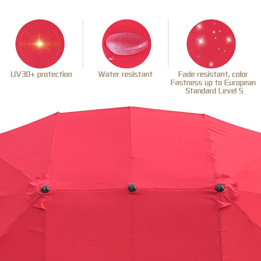 Outdoor-Patio-Umbrella-Aluminum-8ft-9ft-10ft-13ft-Common-LED-Option-Beach-Garden thumbnail 154