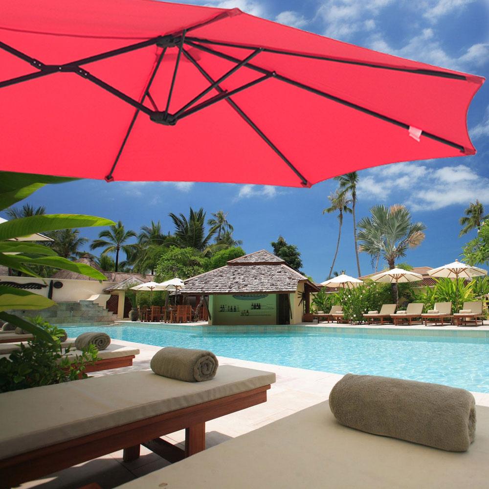 Outdoor-Patio-Umbrella-Aluminum-8ft-9ft-10ft-13ft-Common-LED-Option-Beach-Garden thumbnail 152