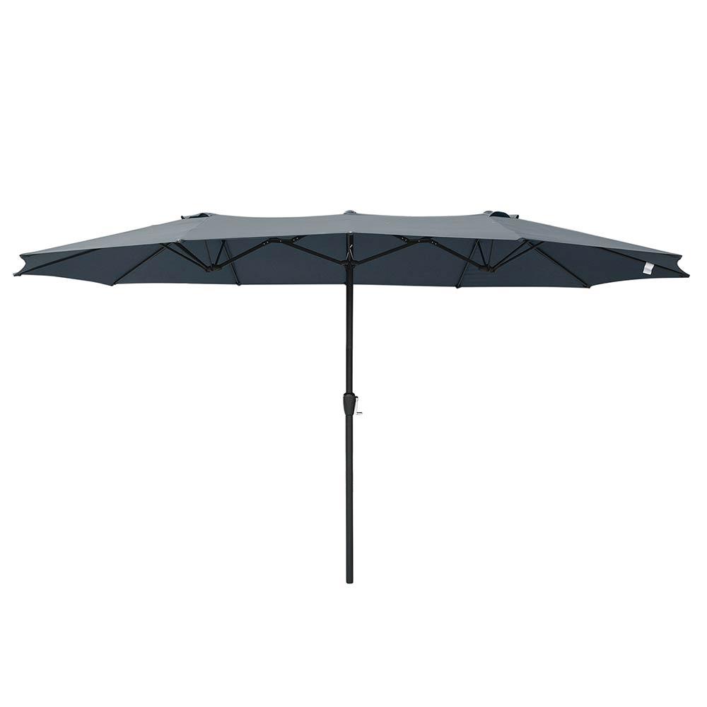 15ft-Double-sided-Patio-Twin-Umbrella-with-Crank-Outdoor-Garden-Market-Sun-Shade thumbnail 14