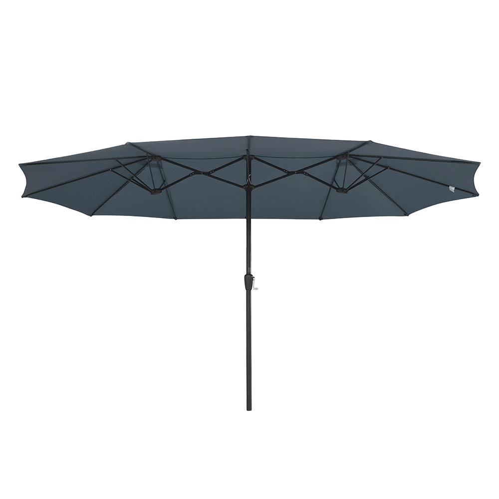 15ft-Double-sided-Patio-Twin-Umbrella-with-Crank-Outdoor-Garden-Market-Sun-Shade thumbnail 23