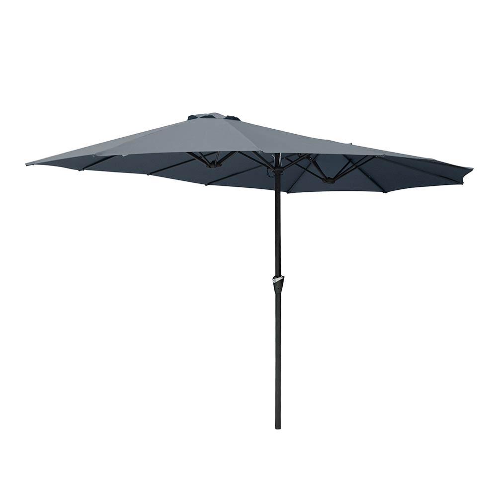 15ft-Double-sided-Patio-Twin-Umbrella-with-Crank-Outdoor-Garden-Market-Sun-Shade thumbnail 24
