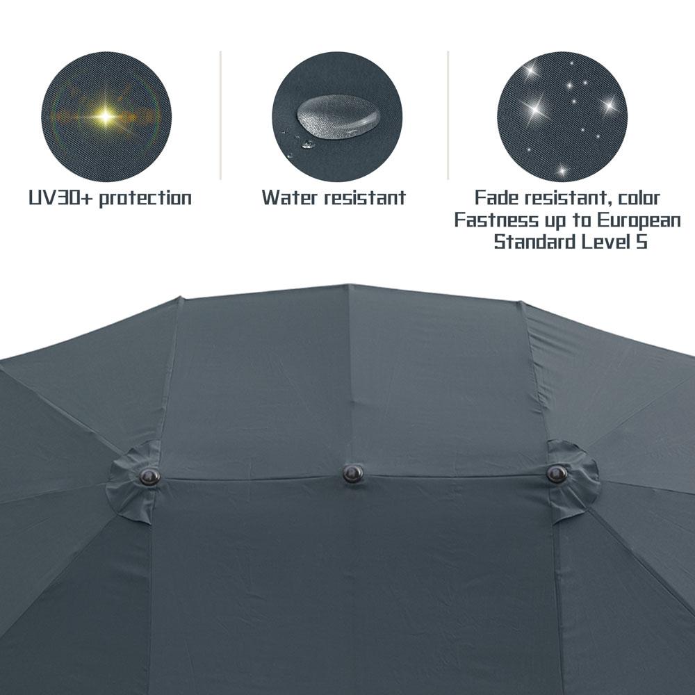 Outdoor-Patio-Umbrella-Aluminum-8ft-9ft-10ft-13ft-Common-LED-Option-Beach-Garden thumbnail 142