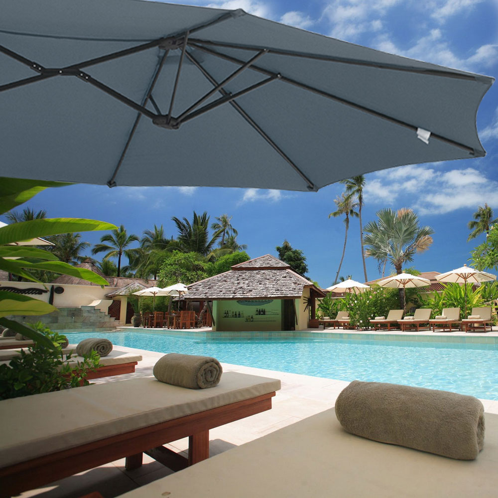 Outdoor-Patio-Umbrella-Aluminum-8ft-9ft-10ft-13ft-Common-LED-Option-Beach-Garden thumbnail 140