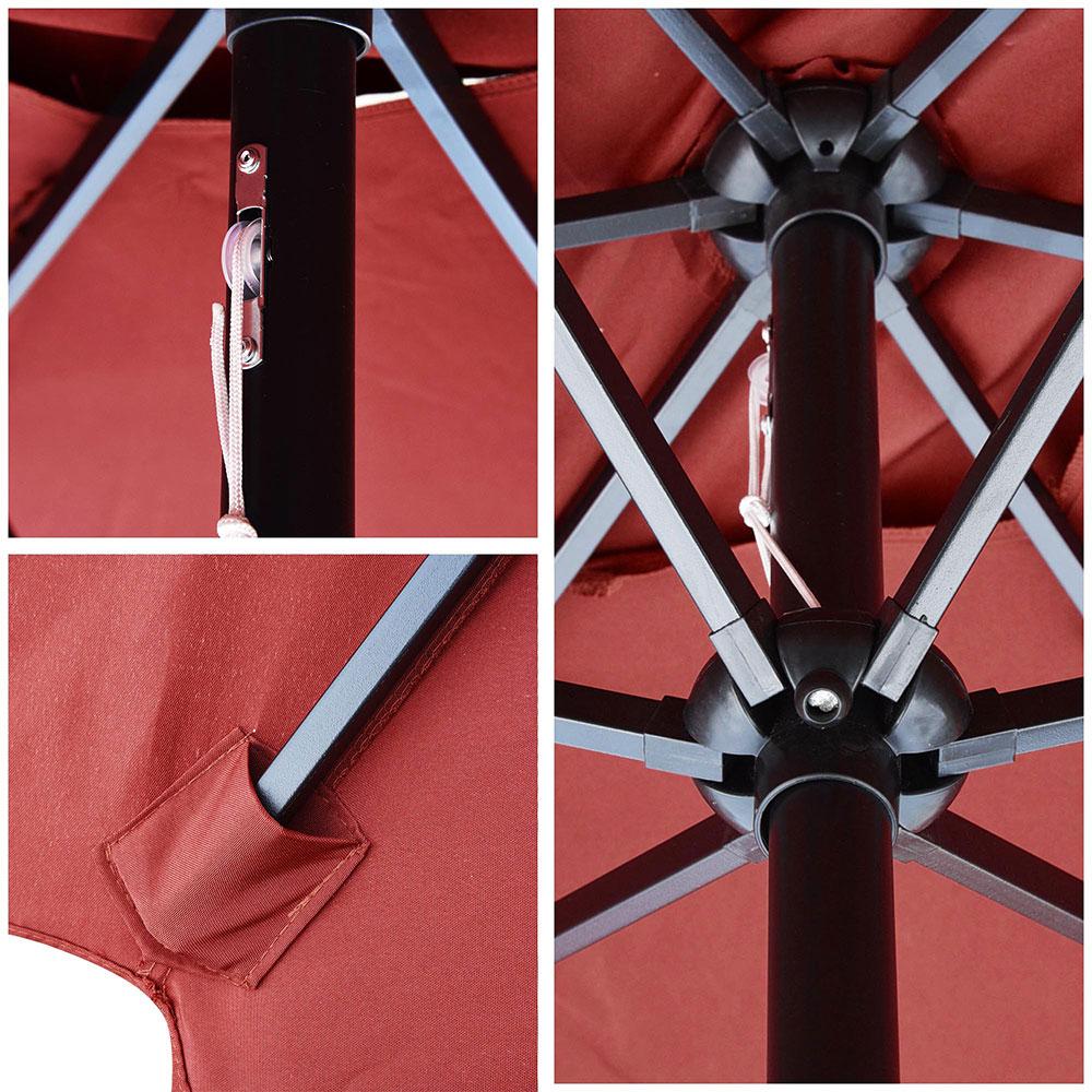 Outdoor-Patio-Umbrella-Aluminum-8ft-9ft-10ft-13ft-Common-LED-Option-Beach-Garden thumbnail 102