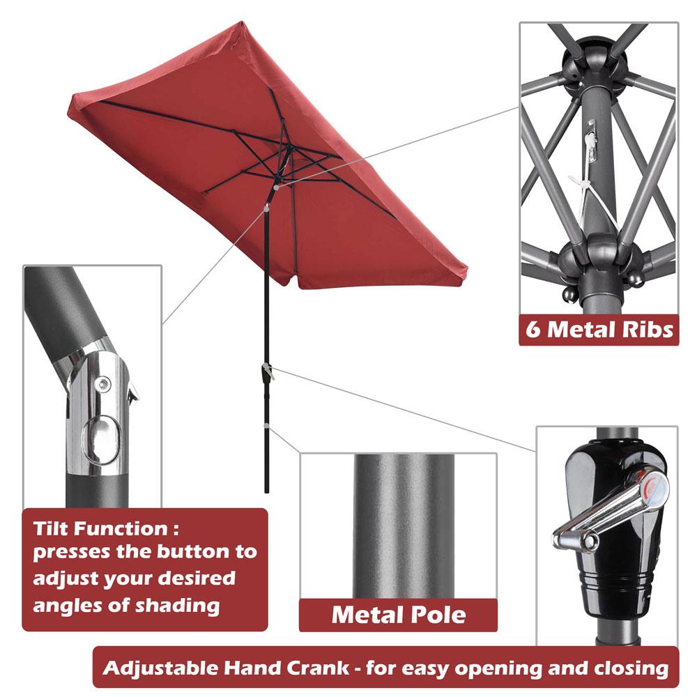 Outdoor-Patio-Umbrella-Aluminum-8ft-9ft-10ft-13ft-Common-LED-Option-Beach-Garden thumbnail 96