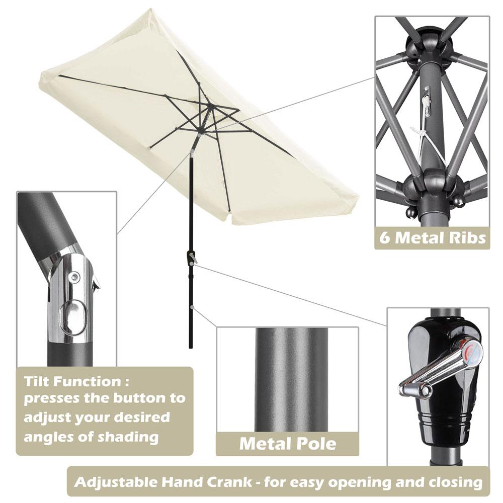Outdoor-Patio-Umbrella-Aluminum-8ft-9ft-10ft-13ft-Common-LED-Option-Beach-Garden thumbnail 73