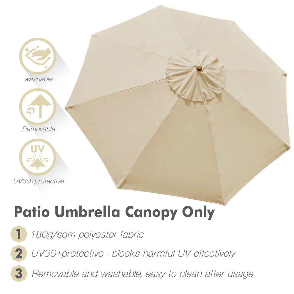 thumbnail 14 - 8'/9'/10'/13' Umbrella Replacement Canopy 8 Rib Outdoor Patio Top Cover Only Opt