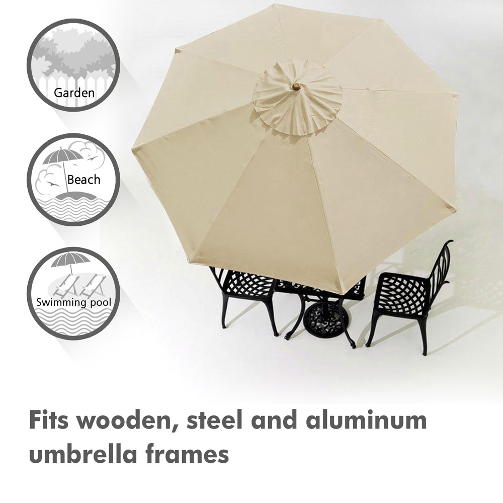 thumbnail 15 - 8'/9'/10'/13' Umbrella Replacement Canopy 8 Rib Outdoor Patio Top Cover Only Opt
