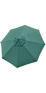 thumbnail 61 - 8'/9'/10'/13' Umbrella Replacement Canopy 8 Rib Outdoor Patio Top Cover Only Opt