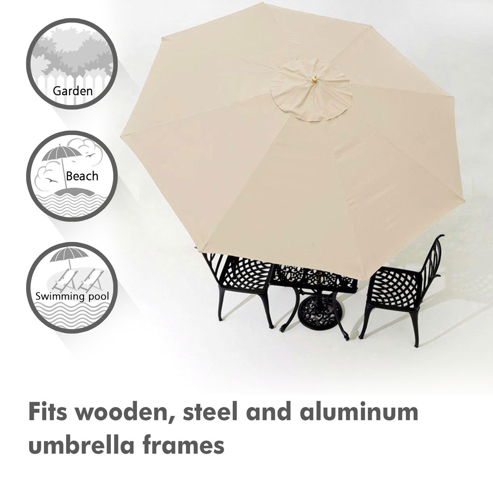 thumbnail 293 - 8'/9'/10'/13' Umbrella Replacement Canopy 8 Rib Outdoor Patio Top Cover Only Opt